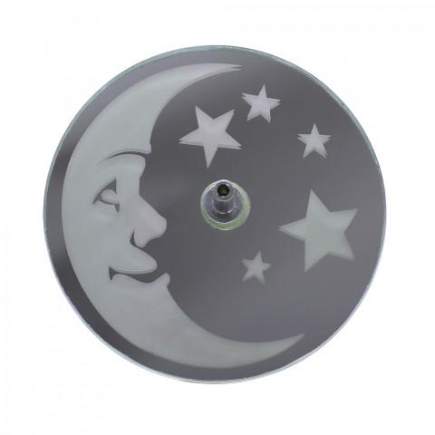 730-7 incensário jato lua e estrela -8cm