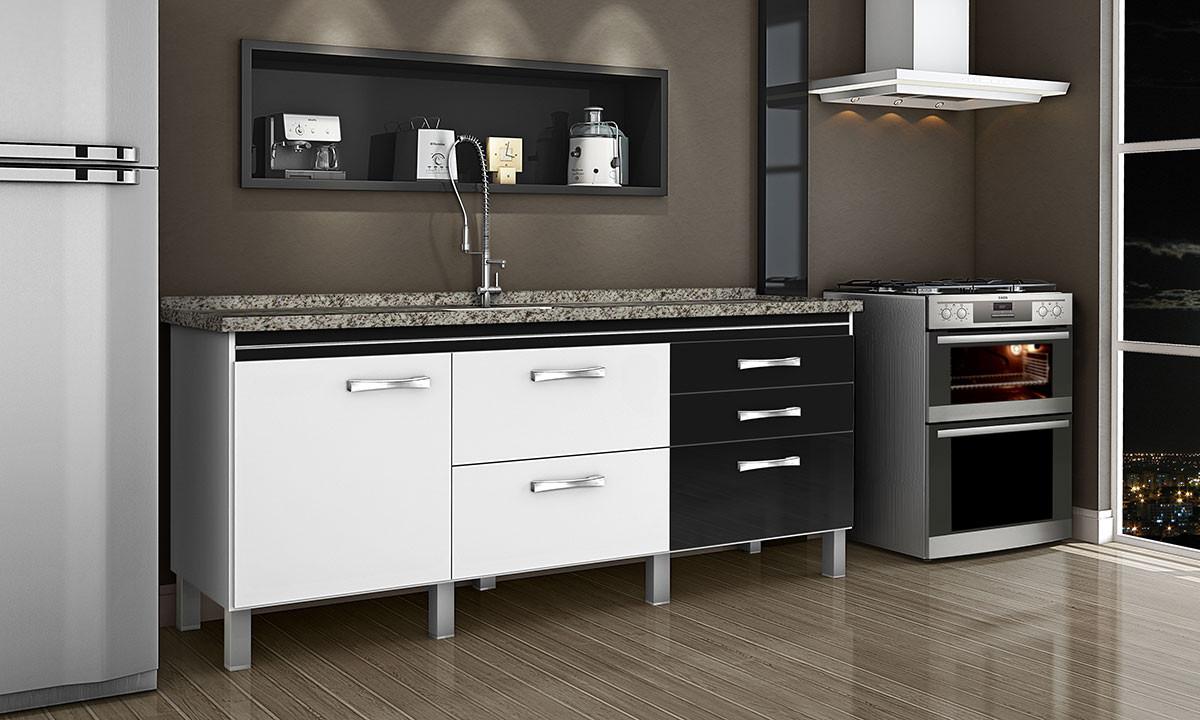 Gabinete FIMAP Magnus 1,94 Branco/Preto