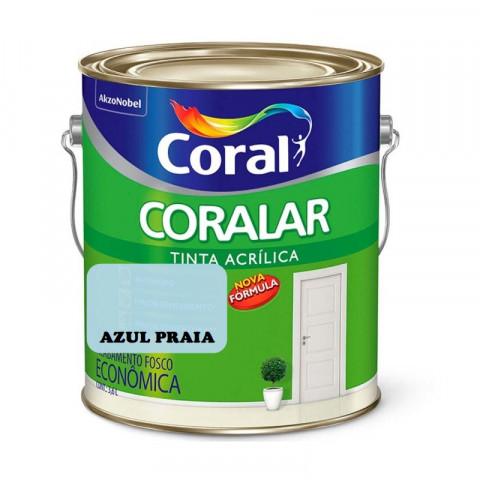 LATEX CORALAR ACRIL 3,6LTS GL AZUL PRAIA