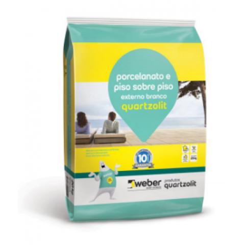 Argamassa-Cimentcola Quartzolit Piso/Piso AC-III 20kg Porcel Externo Branco
