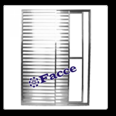 Porta Balcão Aluminio 3 fls 2,10 x 1,20