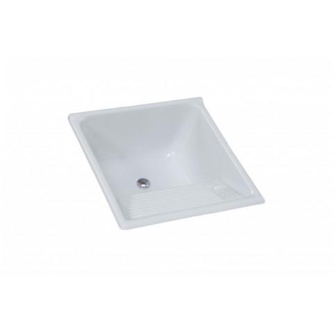 Tanque AJ. Rorato Mármore Sintético Granitado Nº2 Branco Gelo 62x62