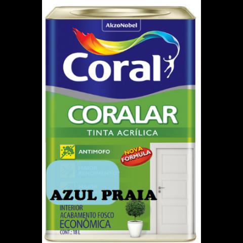 LATEX CORALAR ACRIL 18LTS AZUL PRAIA