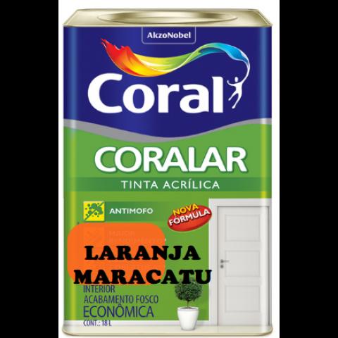 LATEX CORALAR ACRIL 18LTS LARANJA MARACATU