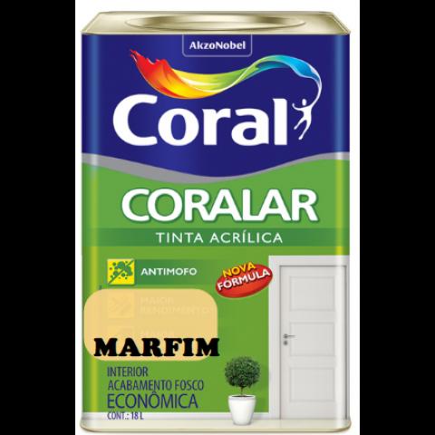 LATEX CORALAR ACRIL 18LTS MARFIM