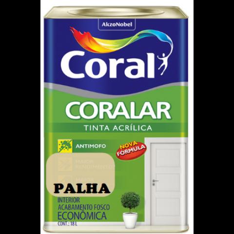 LATEX CORALAR ACRIL 18LTS PALHA