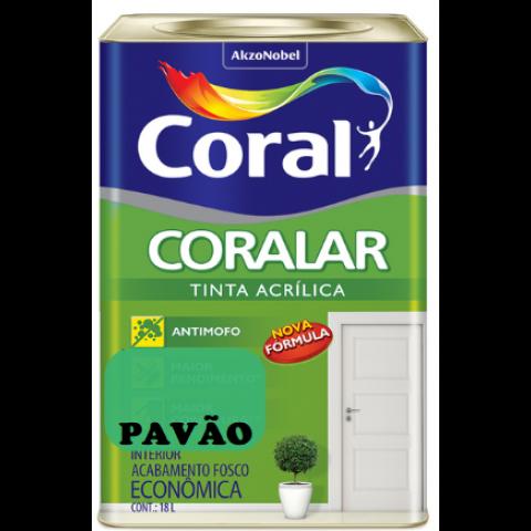 LATEX CORALAR ACRIL 18LTS PAVÃO
