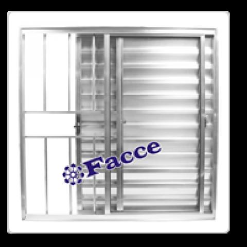 Veneziana 3 fls 1,00 x 1,00 c/ Grade Aluminio