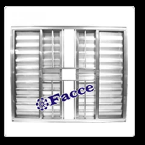 Veneziana 6 fls 1,00 x 1,50 c/ Grade Aluminio