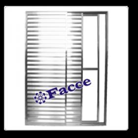 Porta Balcão Aluminio 3 fls 2,10 x 1,50