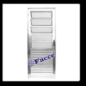 Porta Basculante Aluminio 2,10 x 0,90 L25