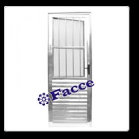 Porta Social Alumínio 2,10 x 0,90 L25