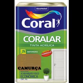 LATEX CORALAR ACRIL 18LTS CAMURÇA