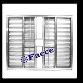 Veneziana 6 fls 1,00 x 1,00 c/ Grade Aluminio