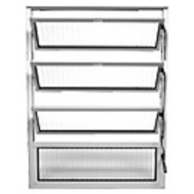 Vitraux Basculante 80 x 80 Alumínio Vidro Canelado