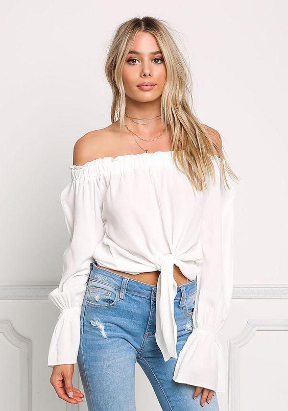 Blusa ombro a ombro Ref.: 271100514