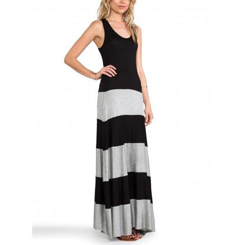 Vestido Longo recorte 2 cores - Ref.: 271100151