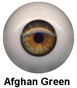 Olhos em Silicone Eyeco Ultra Cor Afghan Green -19mm