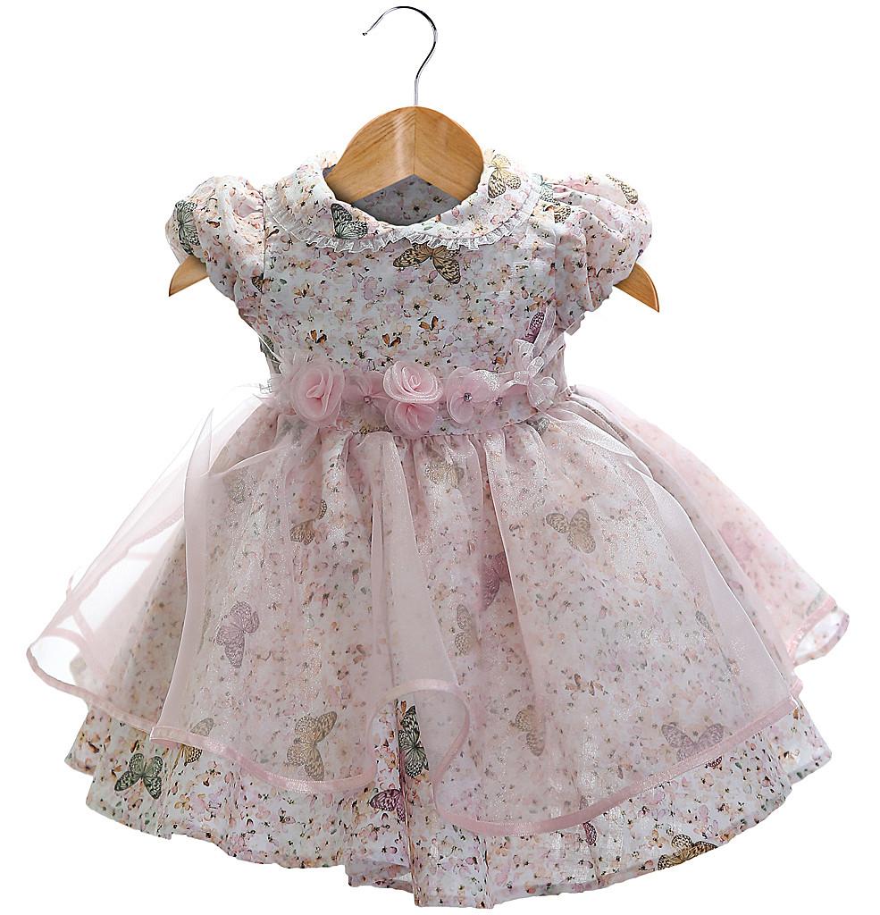 Vestido Beth Bebê - Eduarda - cor rosa-P