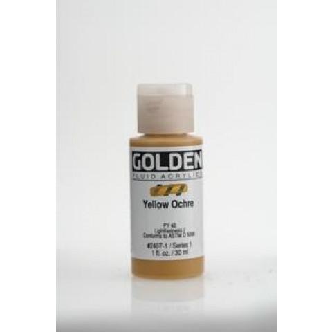 Tinta Golden air dry Yellow Ochre ( 4 gramas) Nao precisa forno