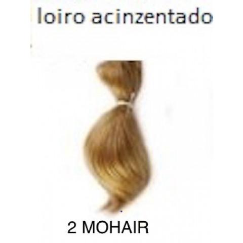 2 Mohair Toddler curvo-loiro acinzentado