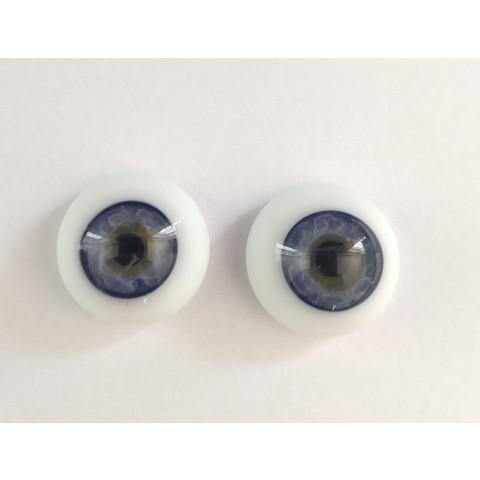 Olhos de vidro Azul Claro -16mm