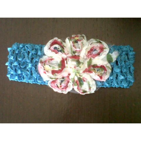 Faixa de cabelo com flor ( várias cores)