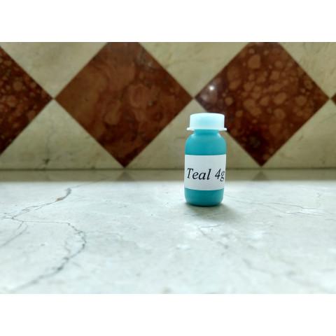 Tinta Golden air dry teal ( 4 gramas) Nao precisa forno
