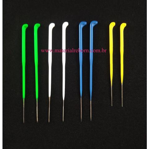 Kit de agulhas cabo coloridos- 8 agulhas