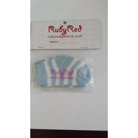 Meia RN Importada Azul com listras brancas ULTIMA