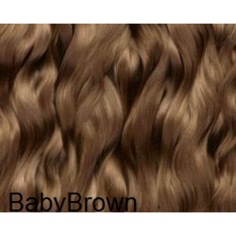 Mohair Premium Slumberland straight Slightly wavy  -Baby Brown ( Castanho Claro)