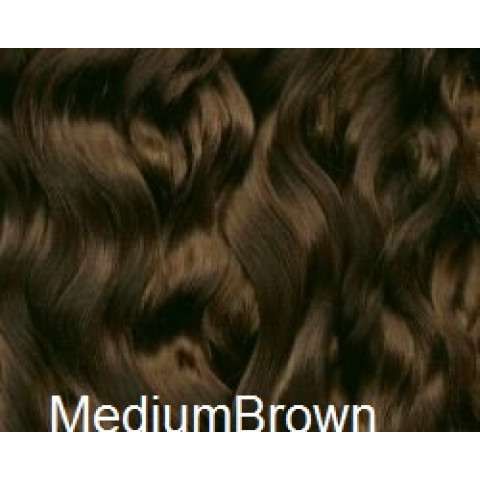 Mohair Premium Slumberland Wavy/Curly -Medium Brown ( castanho medio