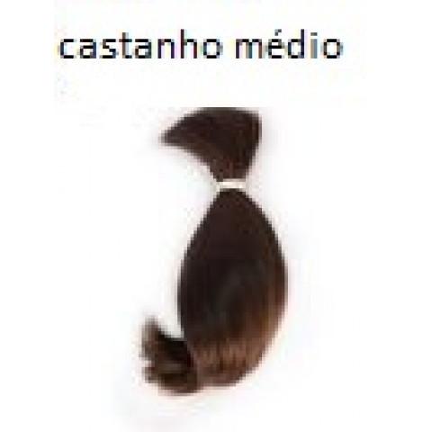 Mohair Toddler curvo-castanho médio