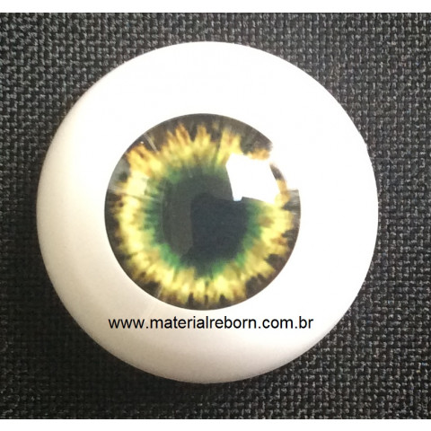 Olhos Dark Brown Green-14mm