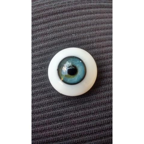 Olhos de vidro azul Claro-18mm