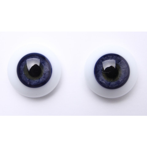 Olhos de vidro azul escuro-20mm