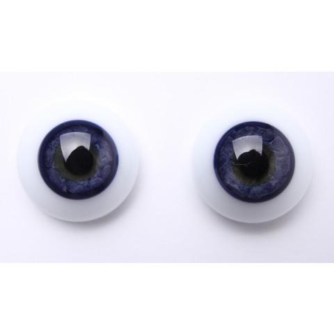 Olhos de vidro azul escuro -24mm