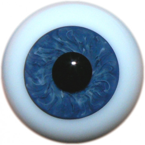 Olhos de vidro ESFERA INTEIRA azul escuro