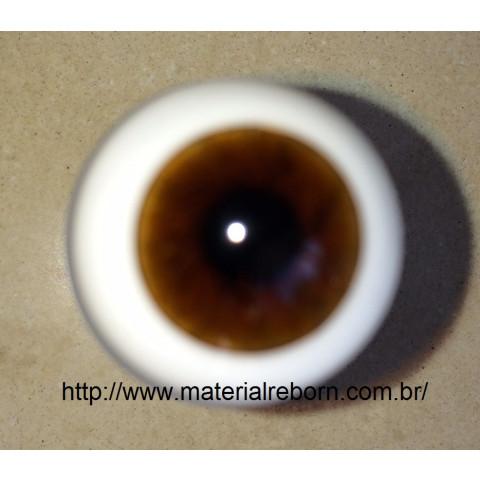 Olhos de vidro ESFERA INTEIRA Castanho medio