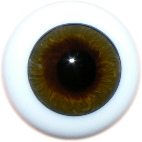 Olhos de vidro Hazel -16mm