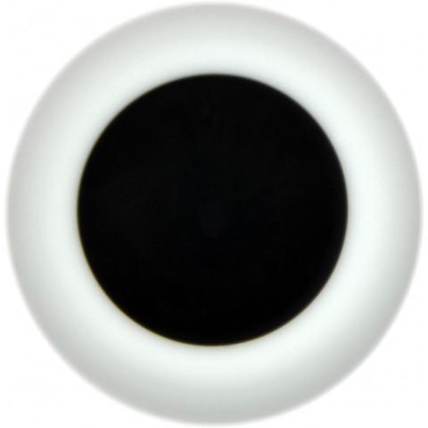 Olhos de vidro preto -castanho muito escuro - 22mm