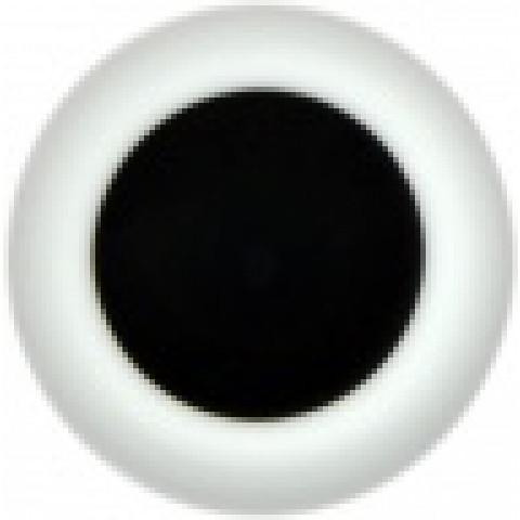 Olhos de vidro preto -castanho muito escuro - 24mm