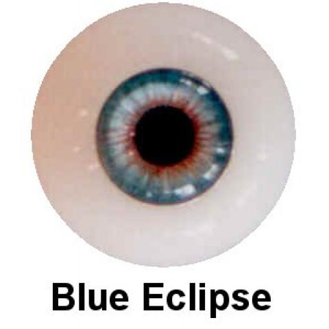 Olhos em Silicone Eyeco Platinum Cor Blue Eclipse -17mm