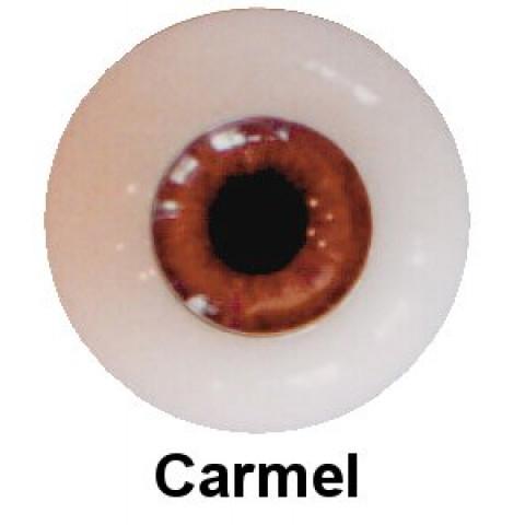 Olhos em Silicone Eyeco Platinum Cor Carmel -23mm