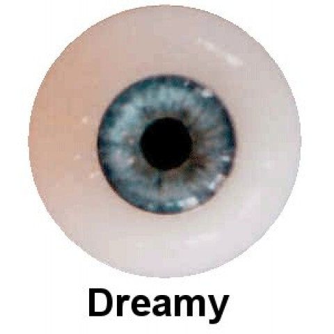 Olhos em Silicone Eyeco Platinum Cor Dreamy Blue -23mm