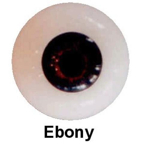 Olhos em Silicone Eyeco Platinum Cor Ebony -17mm