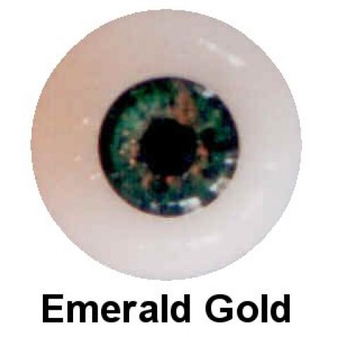 Olhos em Silicone Eyeco Platinum Cor Emerald Gold-19mm