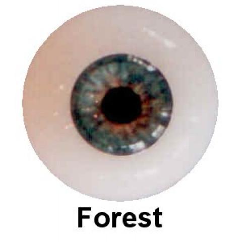 Olhos em Silicone Eyeco Platinum Cor Forest - 21mm
