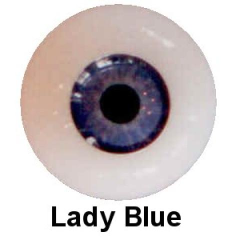 Olhos em Silicone Eyeco Platinum Cor Lady Blue 17mm