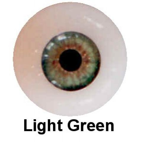 Olhos em Silicone Eyeco Platinum Cor light Green-21mm